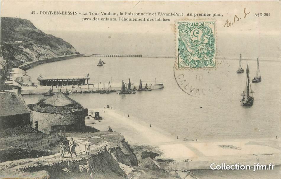 Cpa france 14 port en bessin la tour vauban la poissonnerie et l 39 avant port 14 calvados - Poissonnerie port en bessin ...
