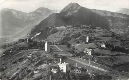 """CPSM FRANCE 73 """" Chignin, Le Mont St Michel, la Chapelle St Anthelme et la Tour de Chignin"""""""