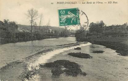 """/ CPA FRANCE 14 """"Pont d'Ouilly, les bords de l'Orme"""""""