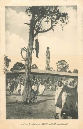"""CPA ETHIOPIE """"Une pendaison à Addis Ababa"""""""