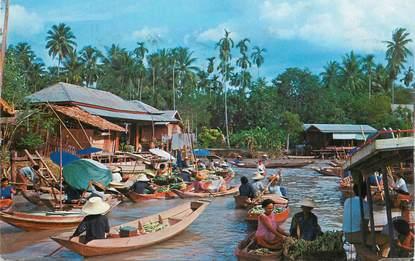 """CPSM THAILANDE """"Marché en bateaux"""""""