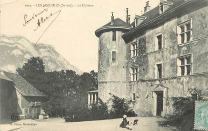 """CPA FRANCE 73 """" Les Marches, Le Château"""""""