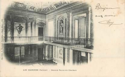 """CPA FRANCE 73 """" Les Marches, Grande salle du château"""""""
