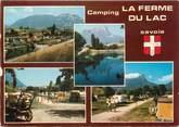 """73 Savoie CPSM FRANCE 73 """" Les Marches, Camping la Ferme du Lac"""""""