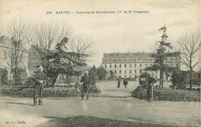 """CPA FRANCE 44 """"Nantes, caserne de Richemond"""""""