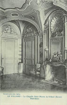 """CPA FRANCE 73 """" Le Villard, Le petit salon de la Chapelle St Martin du Villard"""""""
