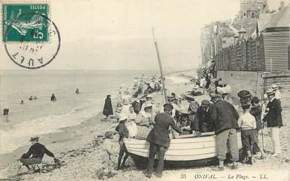 """/ CPA FRANCE 80 """"Ault Onival, la plage"""""""