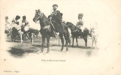 "CPA ALGERIE ""Chef arabe et son Goum"""