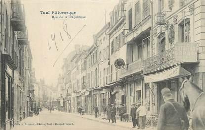 """CPA FRANCE 54 """" Toul, Rue de la République"""" / SALLES DE CINEMA"""