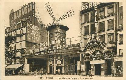 "CPA FRANCE 75 "" Paris 9ème, Le Moulin Rouge"" / SALLES DE CINEMA"