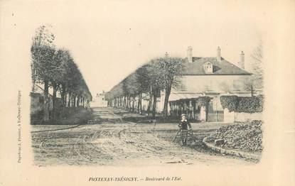 "CPA FRANCE 77 "" Fontenay Trésigny, Boulevard de l'Est"""