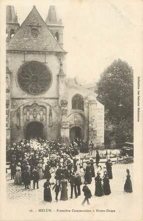 """CPA FRANCE 77 """" Melun, Première Communion à Notre Dame"""""""