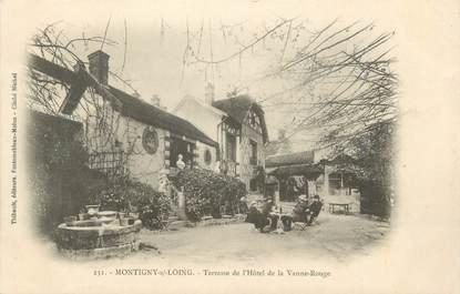 """CPA FRANCE 77 """" Montigny sur Loing, Terrasse de l'Hôtel de la Vanne Rouge"""""""