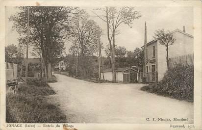 """CPA FRANCE 38 """" Jonage , Entrée du village"""""""