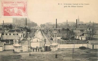 """CPA FRANCE 44 """" Nantes, L'Avenue Carnot et les Cours pris du Dôme Central""""/ Exposition de 1904"""