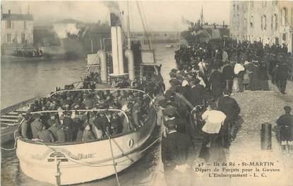 """CPA FRANCE 17 """" Ile de Ré - St Martin, Départ de forçats pour la Guyanne"""""""