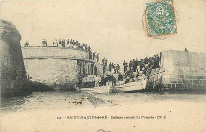 "CPA FRANCE 17 "" St Martin de Ré, Embarquement de forçats"" / BAGNARDS"