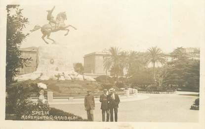 """CPA ITALIE """"Spezia, monument Garibaldi"""""""