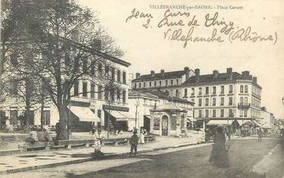 "CPA FRANCE 69 "" Villefranche sur Saone, Place Carnot"""