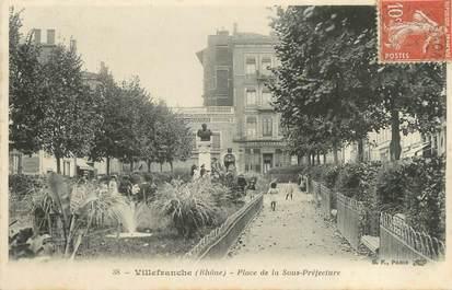 """CPA FRANCE 69 """" Villefranche sur Saône, Place de la Sous Préfecture"""""""