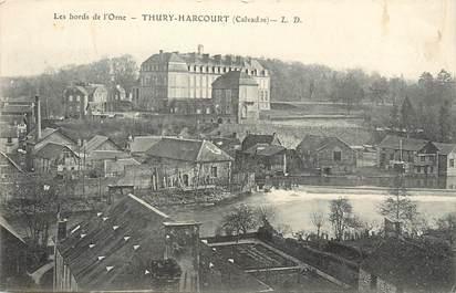 """/ CPA FRANCE 14 """"Les bords de l'Orne, Thury Harcourt"""""""