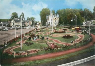 """CPSM FRANCE 61 """" Bagnoles sur l'Orne, Le golf miniature et le Castel Hôtel"""""""