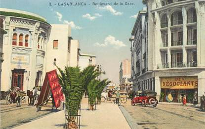 """CPA MAROC """"Casablanca, bld de la gare"""""""