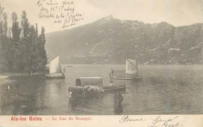 """CPA FRANCE 73 """" Aix les Bains, Le Lac du Bourget"""""""