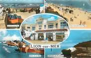 """14 Calvado / CPSM FRANCE 14 """"Lion sur Mer, le casino, plage, pêche"""""""