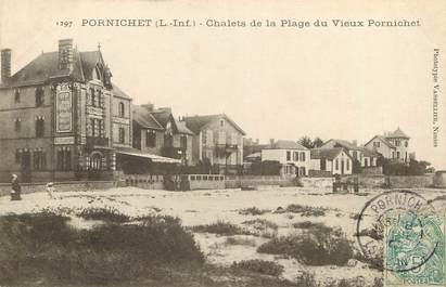 """CPA FRANCE 44 """"Pornichet, chalets de la plage"""""""