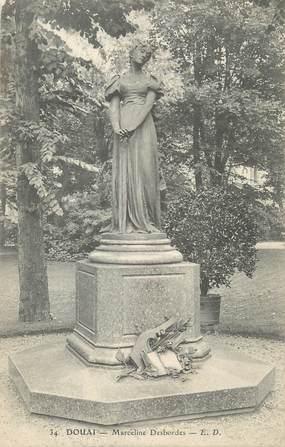 """CPA FRANCE 59 """" Douai, Le monument de Marceline Desbordes"""""""