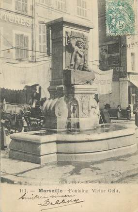 """CPA FRANCE 13 """" Marseille, Fontaine Victor Hugo"""""""