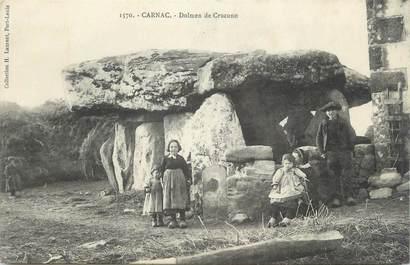 """CPA FRANCE 56 """" Carnac, Dolmen de Crucuno"""""""