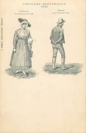 """CPA FRANCE 13 """"Arles, Costumes Provençaux la jardinière et le paysan 1820 """" / FOLKLORE"""