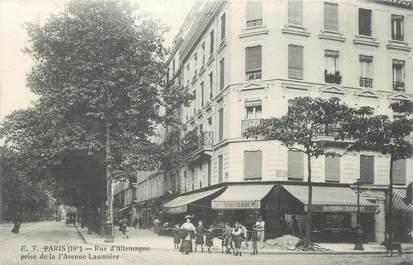 """CPA FRANCE 75 """" Paris, 19ème, Rue d'Allemagne"""""""