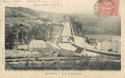 """CPA FRANCE 89 """" Ravières, Canal de Bourgogne"""""""