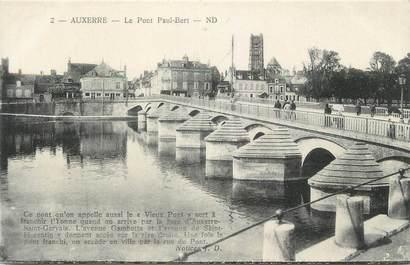 """CPA FRANCE 89 """"Auxerre, Le Pont Paul Bert"""""""