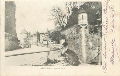 """CPA FRANCE 89 """"Avalllon, La Petite Porte"""""""