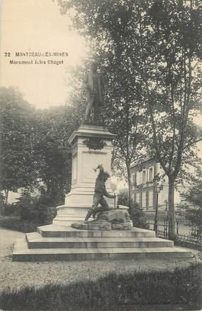 """CPA FRANCE 71 """" Montceau les Mines, Le monument de Jules Chagot"""""""