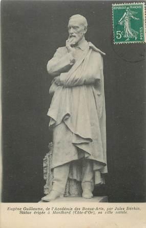 """CPA FRANCE 21 """" Montbard, La Statue de Eugène Guillaume"""""""