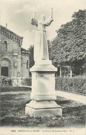 """CPA FRANCE 92 """" Neuilly sur Seine, La Statue de Jeanne d'Arc"""""""
