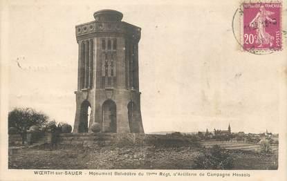 """CPA FRANCE 67 """"Woerth sur Sauer, Le monument Belvédère"""""""