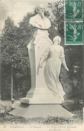 """CPA FRANCE 54 """" Lunéville, La Statue d'Emile Eckmann"""""""