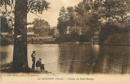 """CPA FRANCE 59 """" Le Quesnoy, Etang du Pont Rouge"""""""