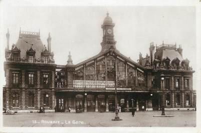 "CPSM FRANCE 59 "" Roubaix, La gare"""