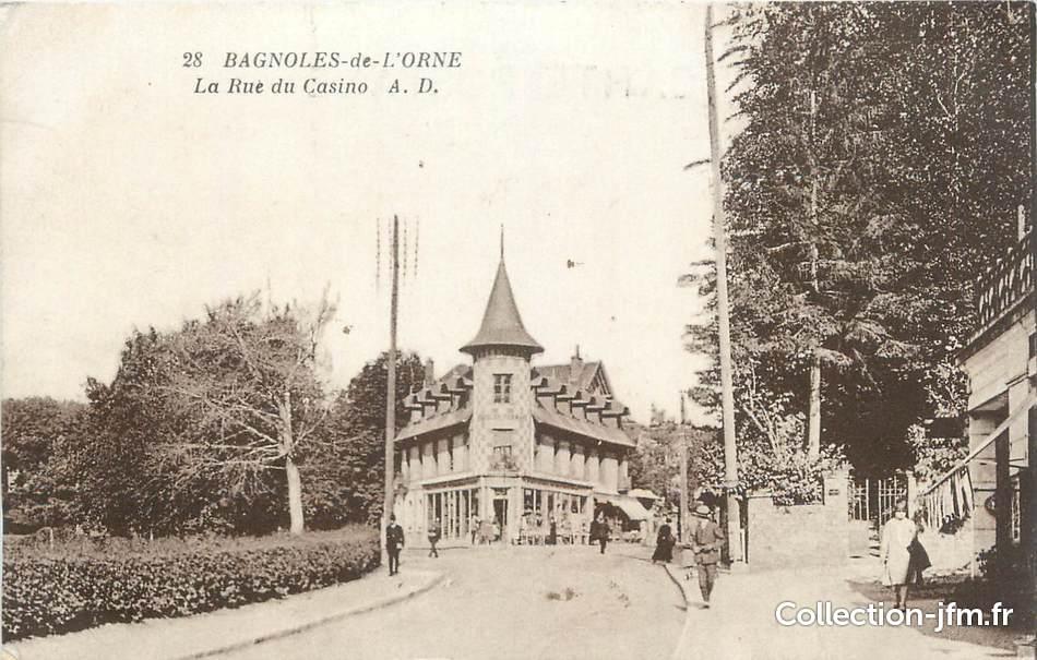 Cpa france 61 bagnoles de l 39 orne la rue du casino 61 - Office du tourisme de bagnoles de l orne ...