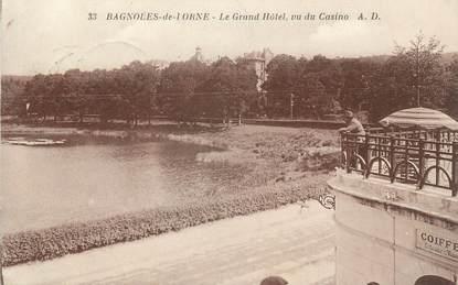 """CPA FRANCE 61 """" Bagnoles de l'Orne, Le Grand Hôtel vu du Casino"""""""
