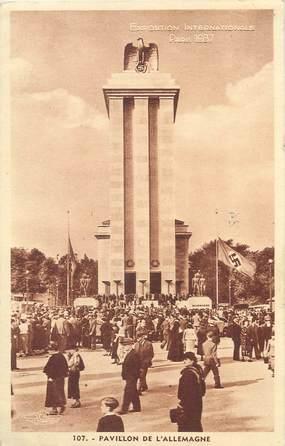 """CPA FRANCE 75 """" Paris, Pavillon de l'Allemagne"""" / EXPOSITION INTERNATIONALE DE 1937"""