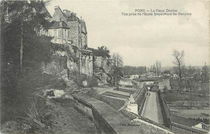 "CPA FRANCE 17 "" Pons, Le vieux donjon'"