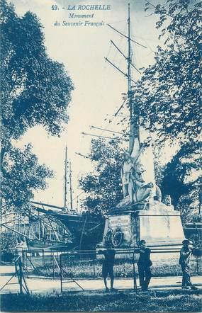 """CPA FRANCE 17 """" La Rochelle, Le monument aux morts"""" / GUERRE DE 1870"""